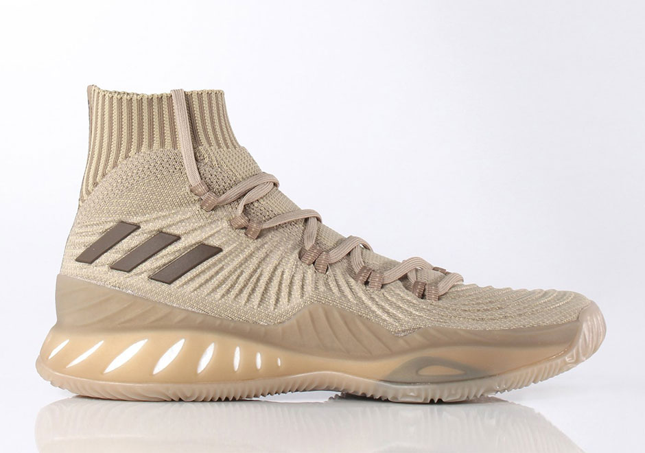 """size 40 cbfb7 17217 Updated on August 11th, 2017 The adidas Crazy Explosive 2017 Primeknit  """"Trace Khaki"""" is available now at Sneakersnstuff."""