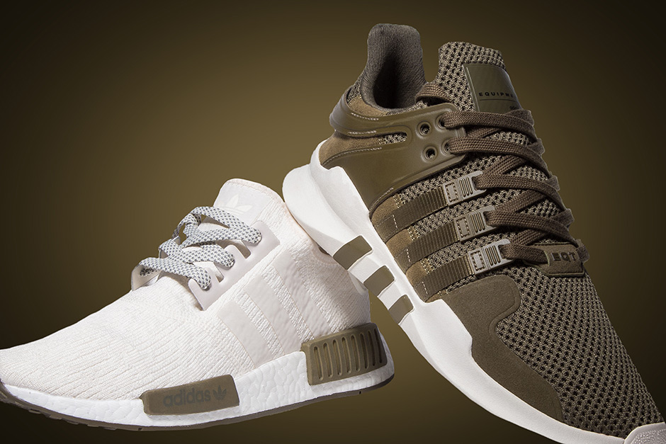 quality design 75971 42fbe adidas NMD Chalk and Olive Champs Sports Exclusive ...