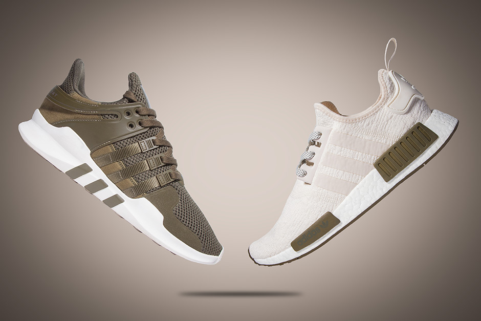 adidas NMD Chalk and Olive Champs Sports Exclusive | SneakerNews.com