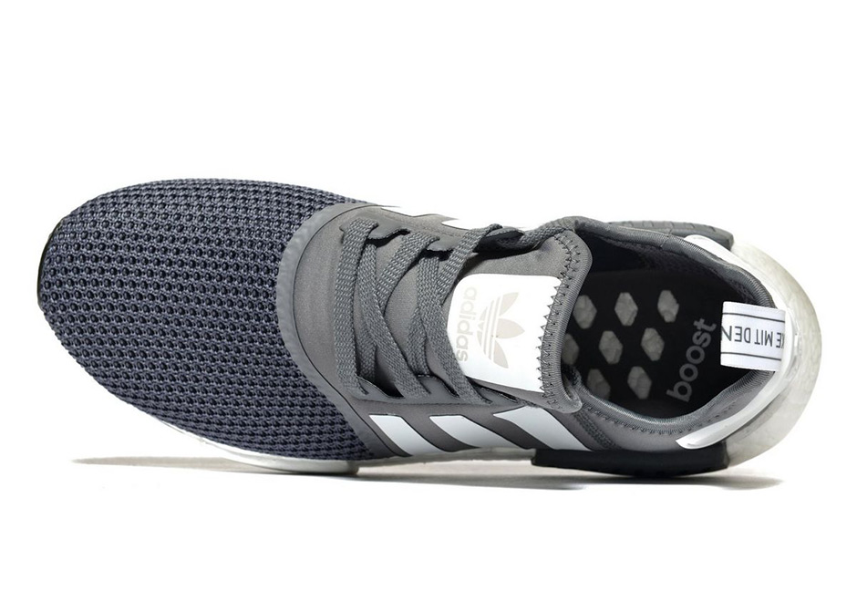 """pretty nice b98db cdad9 adidas NMD R1 JD Exclusive """"Grey"""" AVAILABLE AT JD Sports Color  Grey Footwear  White. Advertisement"""