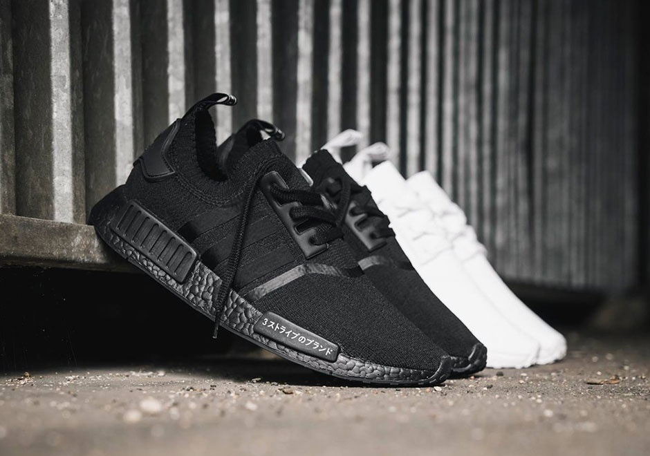 933a2edbb0250 adidas NMD R1 Primeknit Triple White and Triple Black Japan Release Date
