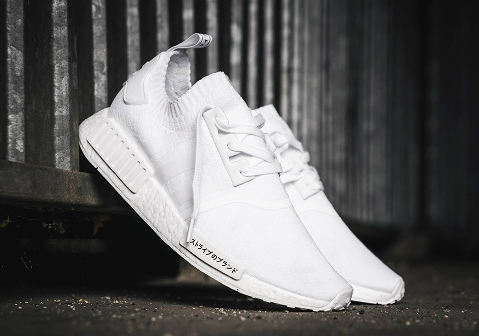 e670169d4 adidas NMD R1 Primeknit Triple White and Triple Black Japan Release ...