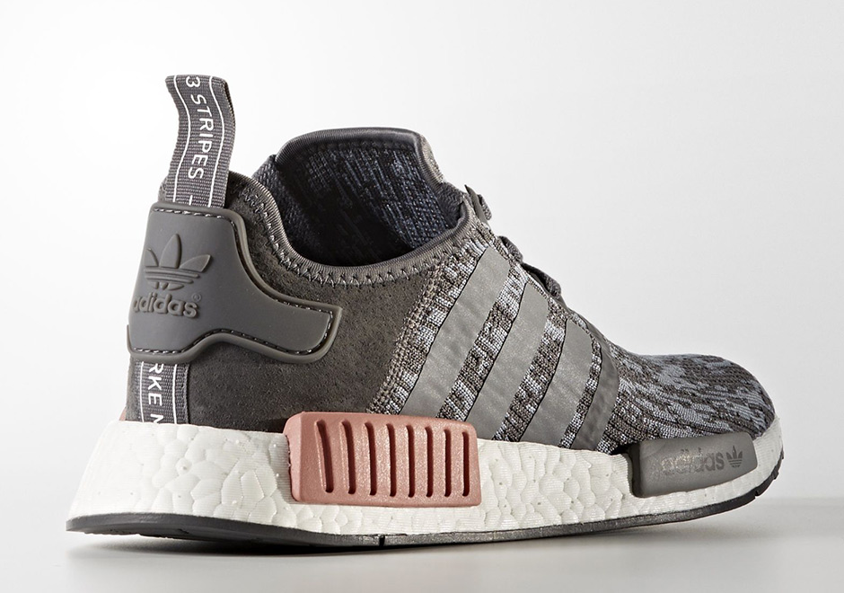 80110d30d adidas NMD R1 Heather Grey Raw Pink BY9647