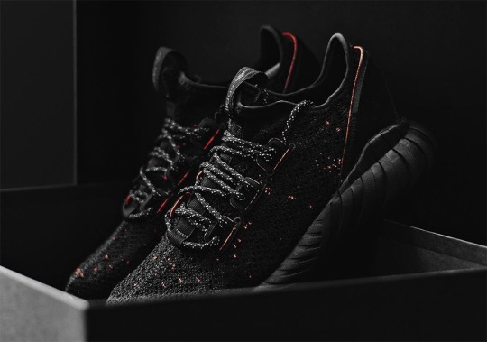 The adidas Tubular Doom Soc Primeknit Adds Hints Of Red To Triple Black