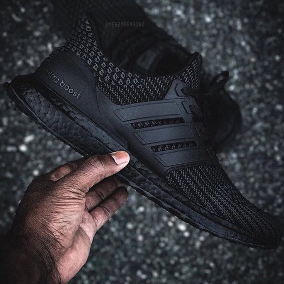 c35d332b2b844c Check out more detailed shots of the coming Ultra Boost 4.0 Triple Black  below and stay tuned for the first pairs to start trickling into retailers  starting ...