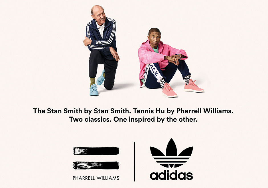 "Pharrell And Stan Smith Team Up For Tennis Hu ""Icons Pack"""