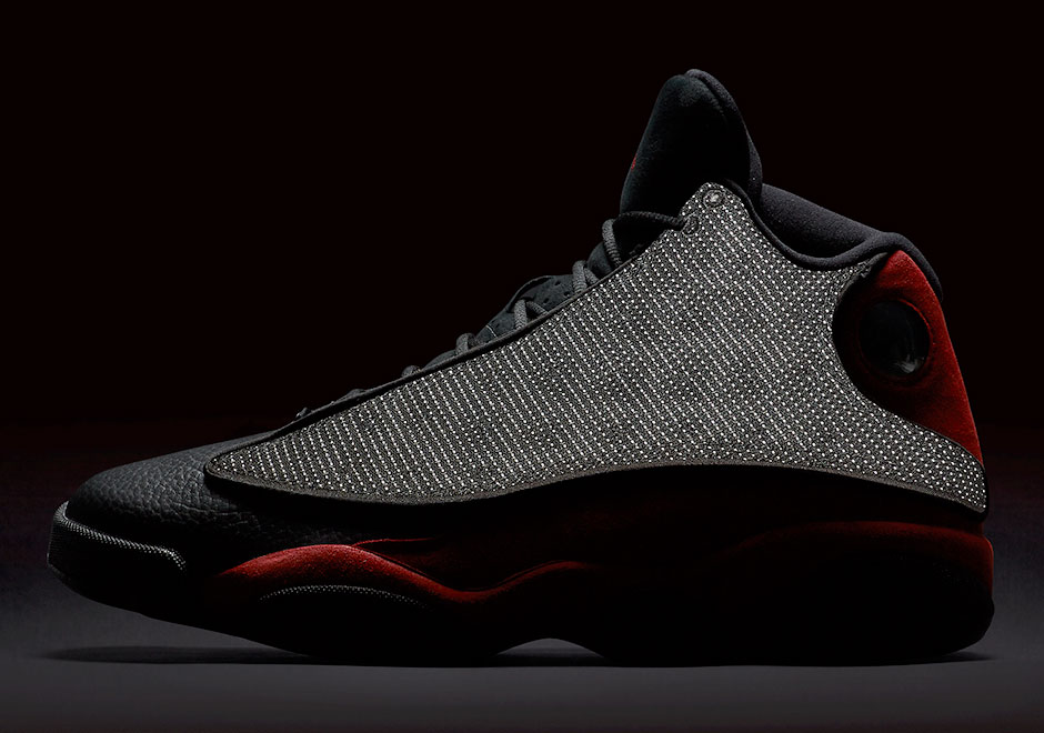 Official photos of the Jordan 13 Bred are finally in and they settle a long  expected rumor  this year s retro will indeed come with reflective 3M nylon  ... 7ea36b6ae3