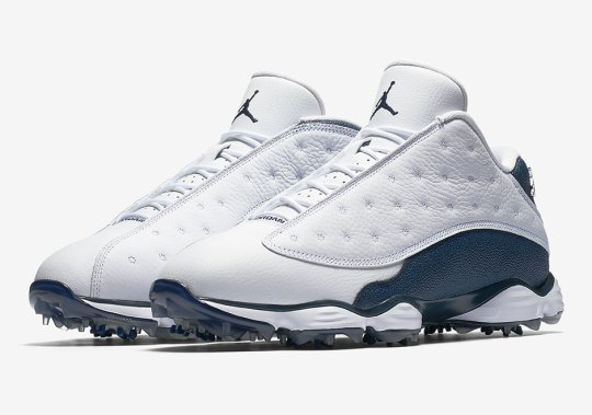 Air Jordan 13 Low Golf Cleats Releasing In White And Navy