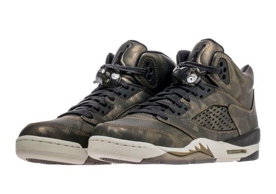 """Jordan Brand's Heiress Collection Gets An Air Jordan 5 """"Metallic Camo"""" Update"""