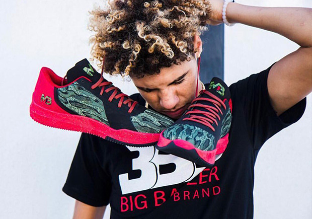 f73ac3ae285f High Schooler Lamelo Ball Debuts His Big Baller Brand MB1 Signature Sneaker