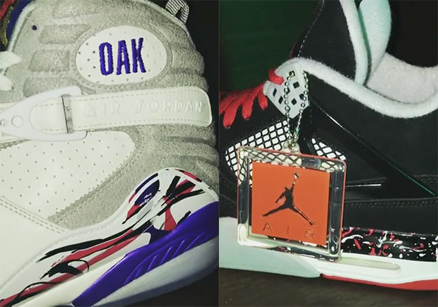 "Drake Unveils Air Jordan Retro ""Multi-Color"", ""Kentucky Blue Midnight Madness"", And ""Oakley Raptors"" PEs"