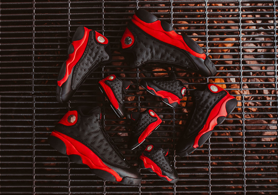 "Air Jordan 13 ""Bred"" Releasing In Full Family Sizes"