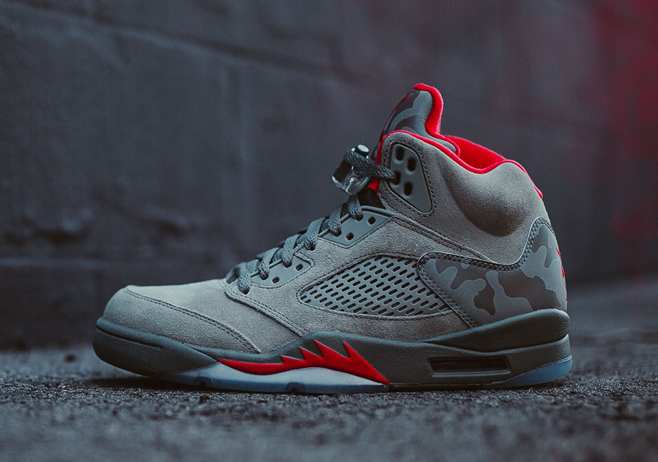 113f0e26f88e2 Air Jordan 5 Retro Release Date: September 2nd, 2017 $190. Color: Dark  Stucco/River Rock/University Red