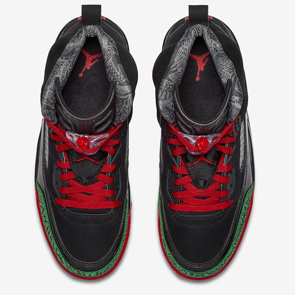 sale retailer 7274e 8f66d Jordan Spiz ike Black Red Green 315371-026   SneakerNews.com
