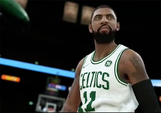 more photos c946a 1121b Kyrie Irving Teases New Nike Kyrie 3 Celtics PE in NBA 2K18 ...