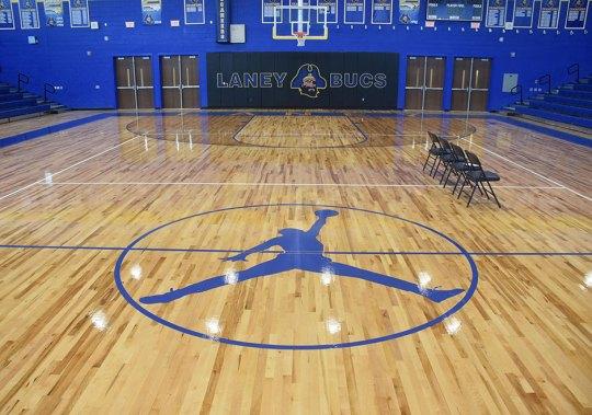 Michael Jordan's Alma Mater Laney High School Boasts New Jordan Basketball Court And Shoe Display