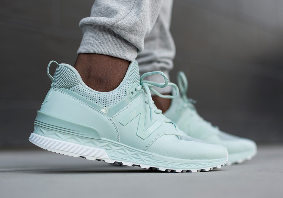 188e6a7dca6 New Balance Adds Mint And Burgundy To The 574 Sport Palette