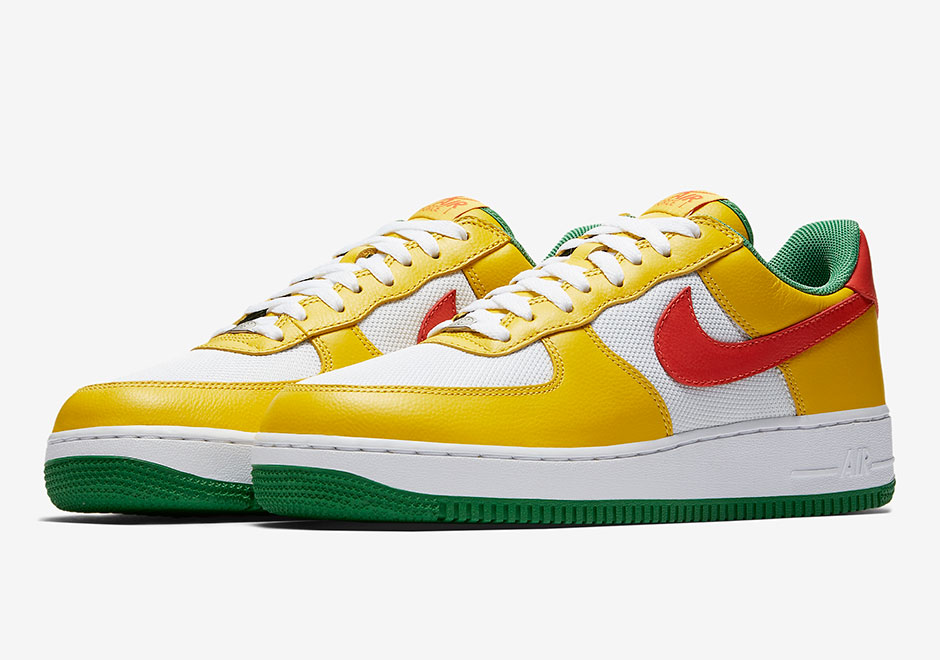 """super popular ac5b6 948b2 Nike Air Force 1 Low """"Carnival"""" Release Date  August 19th, 2017. Color   Yellow Zest Orange Flash True White"""