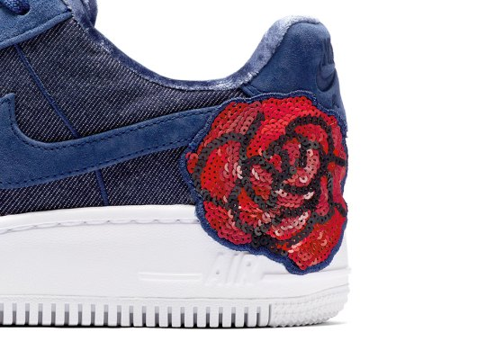 Nike Adds Floral Sequin Patches On These Air Force 1s For Women
