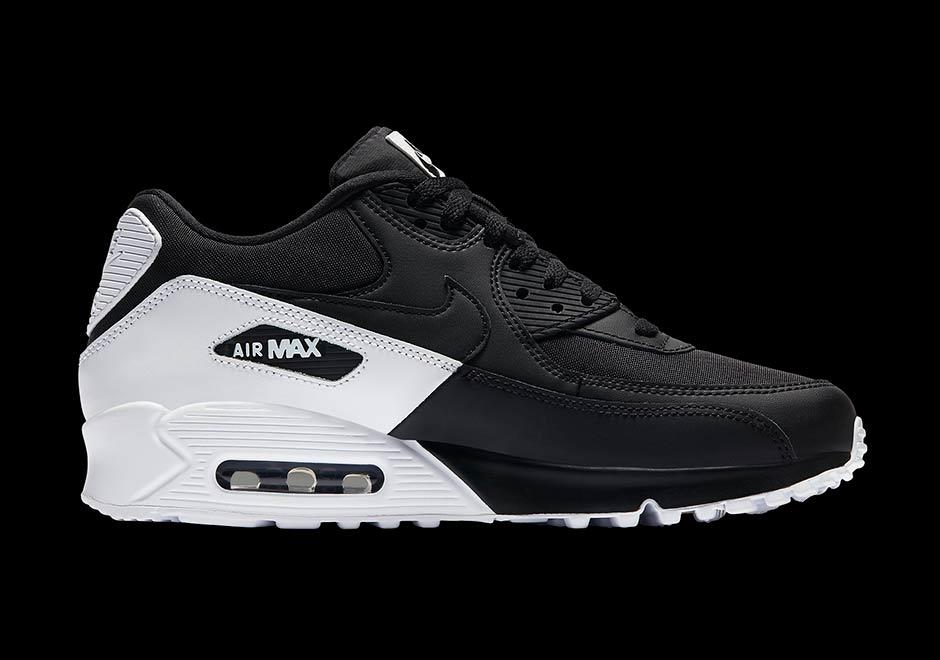 air max 90 white black