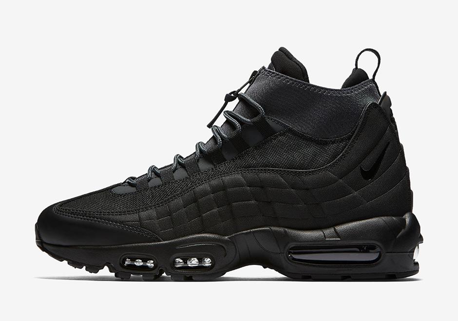 Nike Air Max 95 Sneakerboots Trainers In Black 806809 001