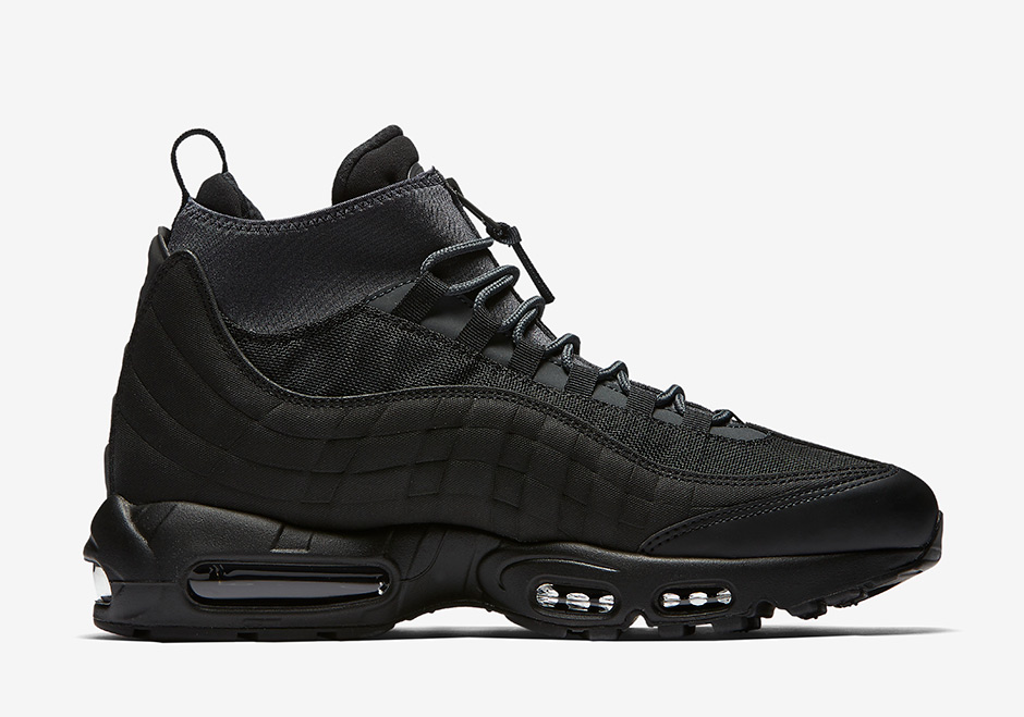 more photos acdc6 3ae07 Nike Air Max 95 Sneakerboot Triple Black 806809-001 ...