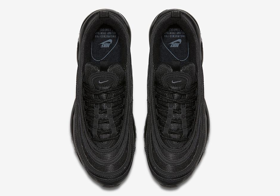 "a5fc58d6d0 Nike Air Max 97 ""Triple Black"" Release Date: August 5th, 2017 $160. Color:  Black/Black-Black Style Code: 921733-001. Advertisement"