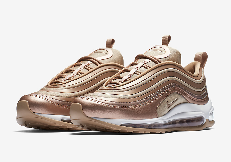 "The Nike Air Max 97 ""Silver Bullet"" was followed by another classic  colorway in the Nike Air Max 97 ""Metallic Gold"". Now finishing third never  looked so ... 913a4cebc"