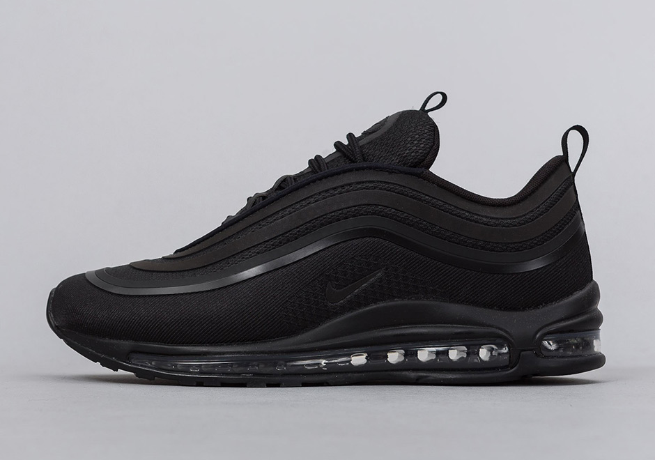 "ef974c6526d062 Nike Air Max 97 Ultra ""Triple Black"" AVAILABLE FROM Finishline  160. Color   Black Black-Black Style Code  918356-002"