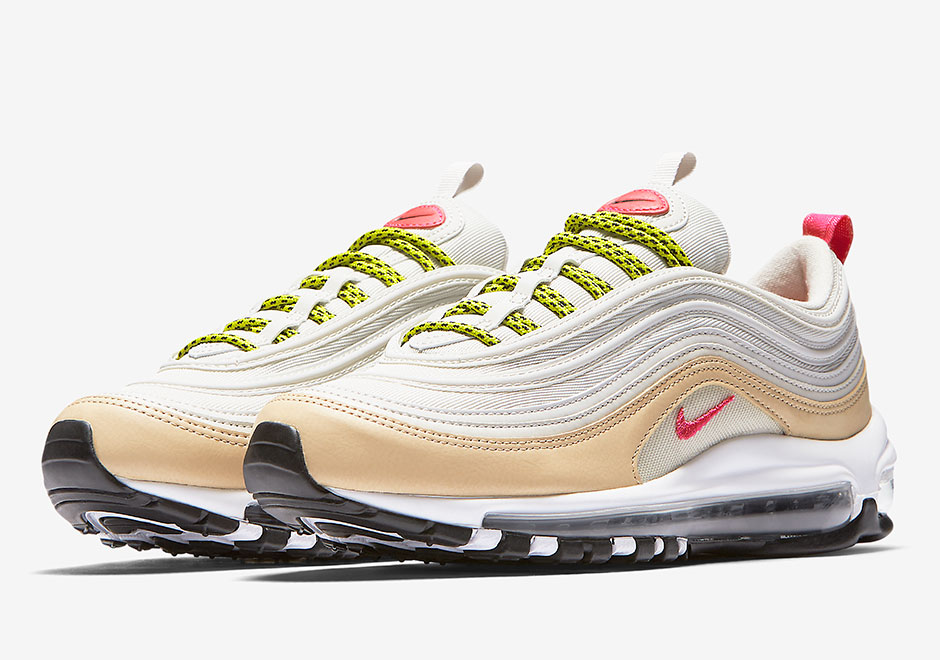 "5462f5dbe13b Udpate  Nike Air Max 97 in ""Light Bone Deadly Pink"" released at European  retailers on September 27th"