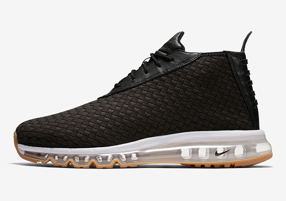 The unique hybrid of full-length Air Max with a lifestyle woven build and  chukka boot silhouette goes all black up top ...