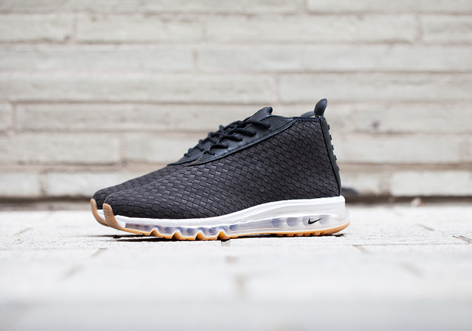 best sneakers 1c80a e92b3 Nike Air Max Woven Boot Release Date  August 17th, 2017  200. Color  Dark  Obsidian Dark Obsidian-True White-Varsity Red