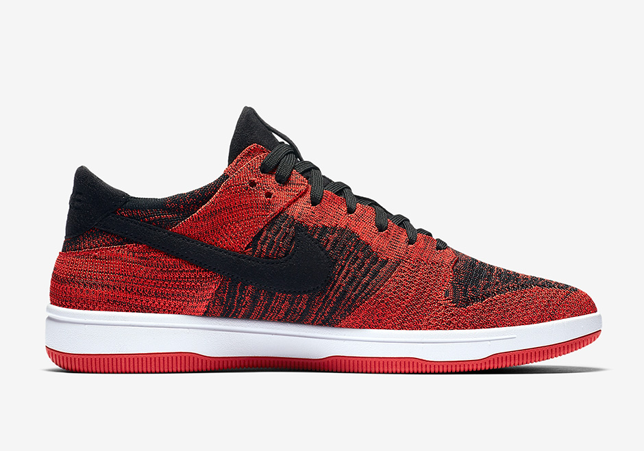 the best attitude 0f548 d7d4f Nike Dunk Low Flyknit AVAILABLE AT Nike  120. Color  Varsity Red Black-White  Style Code  917746-004