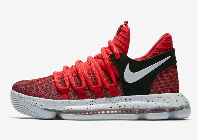 """sports shoes 8a454 c788f Nike KD 10 """"University Red"""" Releasing In Kids Sizes"""