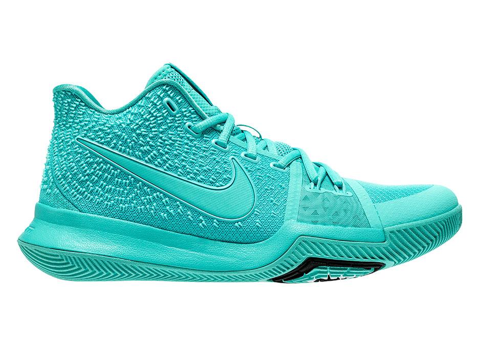 "half off 3ca3a 3ebe3 Nike Kyrie 3 ""Aqua"" Release Date  August 19th, 2017  120. Color  Aqua Aqua- Black Style Code  852395-401"