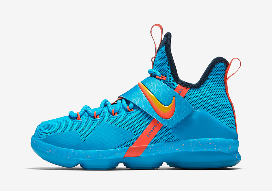 Nike Lebron  Gs Cocoa Beach Release Date August Th   Color Blue Lagoon Tour Yellow Squadron Blue