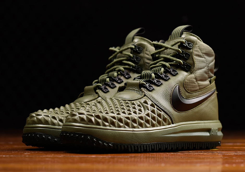 72d3754179 Nike Lunar Force 1 Duckboot '17. AVAILABLE FROM Renarts $170. Color: Medium  Olive/Black