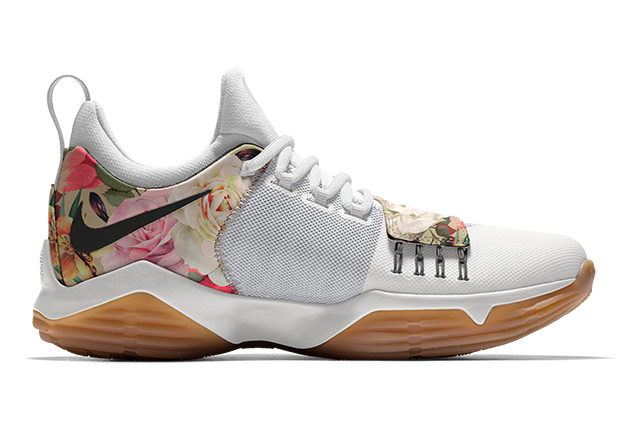 pretty nice ed2cc 01279 ... the floral print on the PG1 include gum rubber or clear soles, metallic  silver or gold Swooshes, and speckled midsoles. You can get started on your  own ...