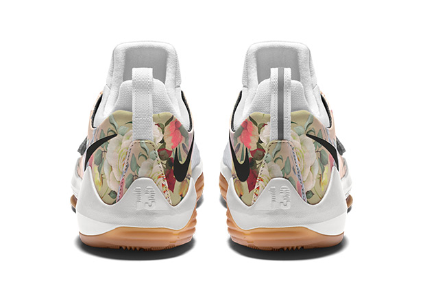 pretty nice e0e7f 2f31e ... the floral print on the PG1 include gum rubber or clear soles, metallic  silver or gold Swooshes, and speckled midsoles. You can get started on your  own ...