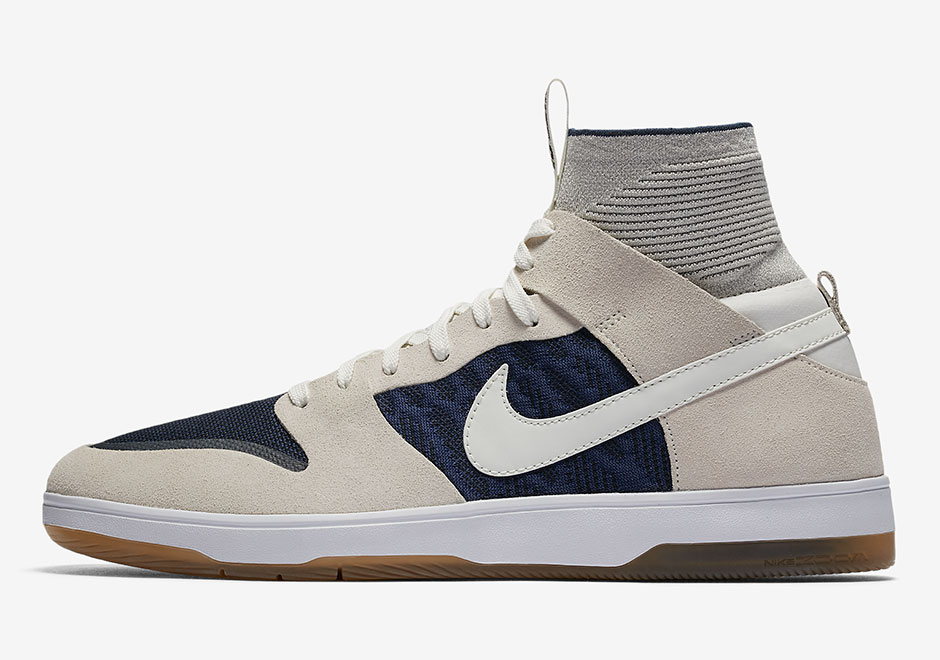 Updated on August 30th, 2017: The Nike SB Dunk High Elite in Sail/Binary  Blue releases on September 2nd, 2017 for $125.