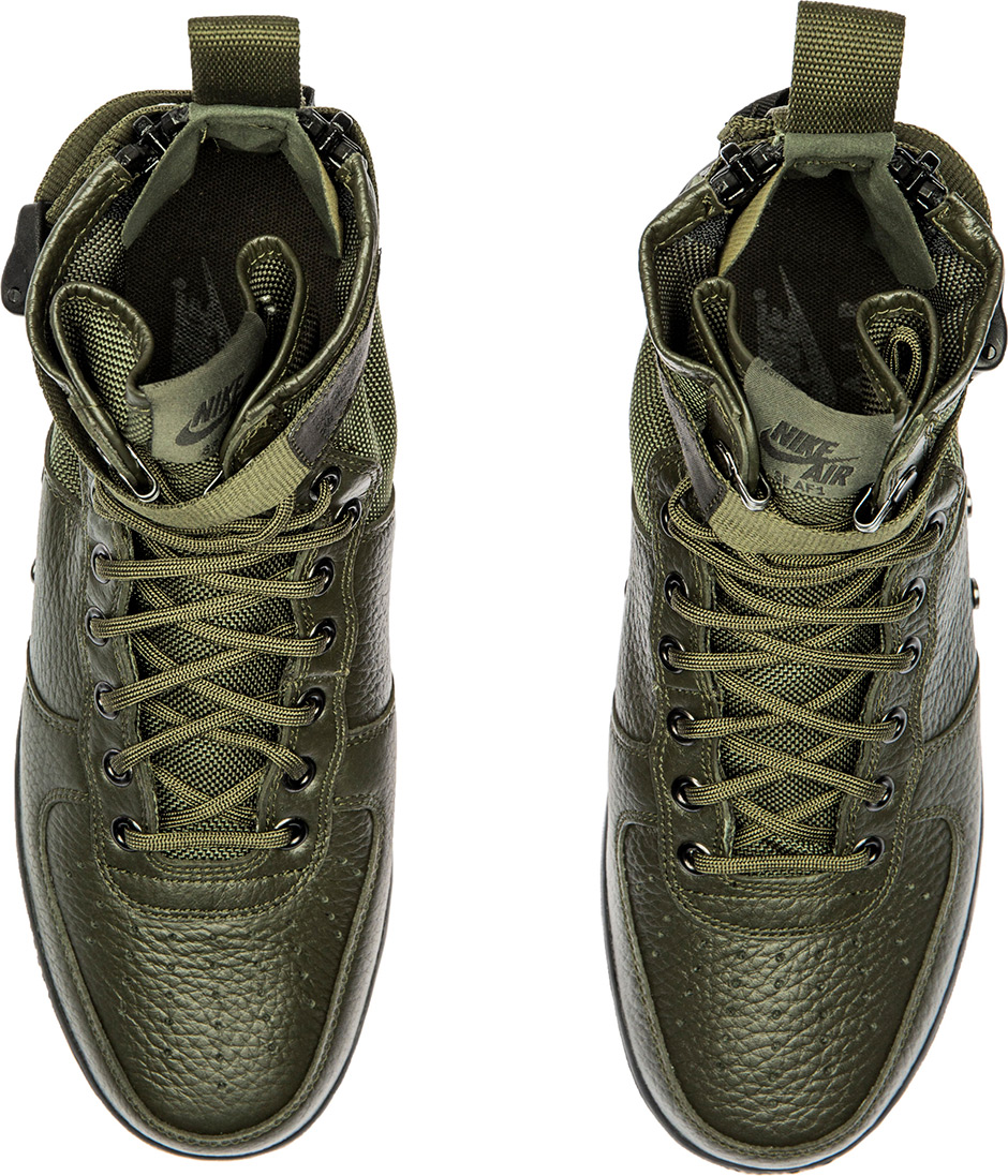 Nike Sf Air Force  Mid Shoe In Sequoia Black