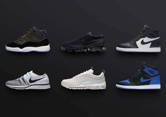 "Royal 1s, Space Jam 11s, Flyknit Trainer OG, And More In Nike SNEAKRS+ App ""Heat Wave"" Restock"