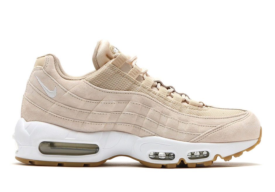"5564cac2973a7f Nike WMNS Air Max 95 ""Oatmeal"" Release Date  Summer 2017. Color   Oatmeal White-Linen-Black"