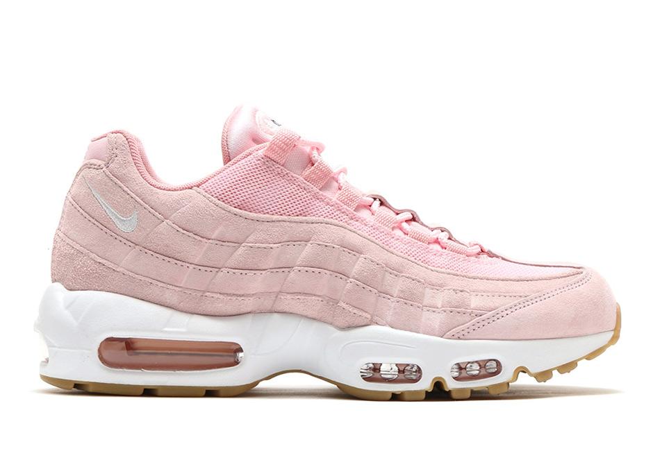 pink white air max 95