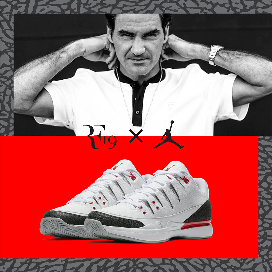 """Nike Zoom Vapor Tour AJ3 """"Fire Red"""" European Release Date: August 23-27,  2017 $200. Color: White/Fire Red-Silver-Black Style Code: 709998-106"""