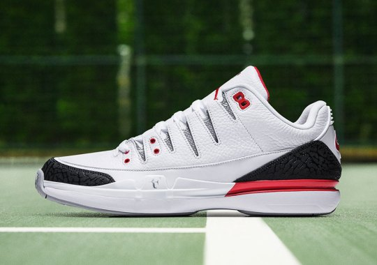"Nike Zoom Vapor Tour AJ3 ""Fire Red"" Releases This Week"