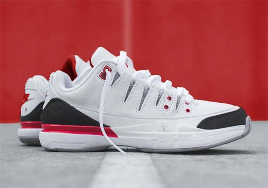 "Nike Zoom Vapor Tour AJ3 ""Fire Red"" Releases Tomorrow At KITH"
