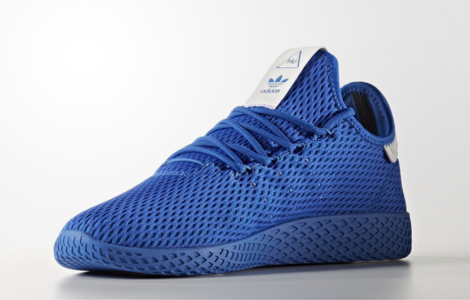 "low priced f06e9 7faaa Pharrell x adidas Tennis Hu ""Solids"" Release Date September 8th, 2017  110. Style Code CP9766 (Blue), BY8719 (Dark Blue), CP9667 (Gold), BY8720  (Scarlet)"