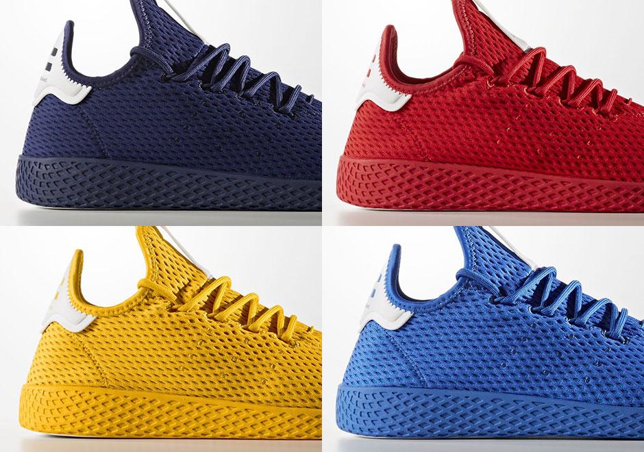 best service 58c6d 0307a Pharrell adidas Tennis Hu Solids Pack Release Date   SneakerNews.com