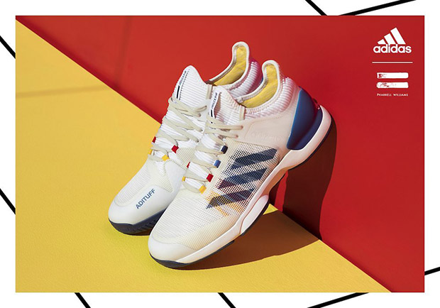 newest 1a9bb f2b06 ... Pharrell s tennis collection will hit retail on August 31st at adidas.com  and select retailers. Advertisement. show comments